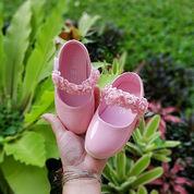 Pink Sepatu Anak Batita Tali Bunga On Promo