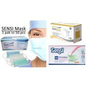 SENSI MASK 3PLY Masker HIJAB JILBAB / HEADLOOP / Duck Bill