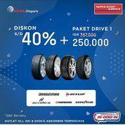 Promo Diskon Ban Mobil s.d 40% dan Paket Drive 1 di Super Shop&Drive