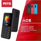 MITO 101 ACE HP CANDYBAR 1,7 DUAL SIM GARANSI RESMI - Hitam/Merah
