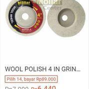 WOOL POLISH 4 IN GRINDA WOOL DISC POLES STAINLESS BESI 4 INCI PUTIH NON WOVEN MURAH MOLLAR (24052943) di Kota Magelang