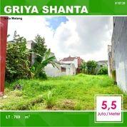 Tanah Murah Luas 769 Di Griya Shanta Suhat Kota Malang _ 107.20