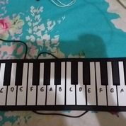Piano Silicone Flexible Roll Up Second. Lengkap Dengan Box + Kabel Data + Kabel Power / Mic (24071159) di Kab. Karo