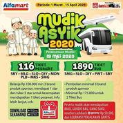 Alfamart Mudik Asyik 2020 Tiket Pesawat dan Bus Gratis Lebaran!
