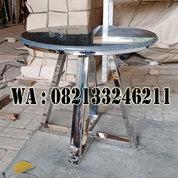 Meja Kopi Marmer Kombinasi Kaki Stainless Stell (24099895) di Kab. Jepara