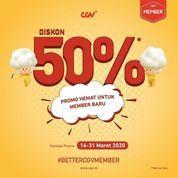 CGV Diskon 50% Promo Hemat Untuk Member Baru