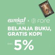 iLOTTE Promo Eureka Belanja Buku Gratis Kopi Fore Disc 5% Periode Promo 18-31 Maret 2020