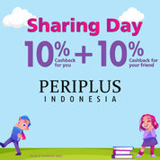 Periplus.com Promo Sharing Day Cashback 10% For You + 10% Cashback For Your Friend