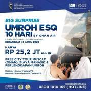 ESQ Tours Umrah 10 Hari Rp 25,2Jt ALL IN Berangkat 3 April 2020