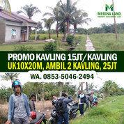 Tanah Kavling Murah Dekat Kota Pontianak, 25jt 2 Kavling, 10x20m