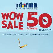 INFORMA Promo Special 50% dan Cashback 10% Sampai dengan Rp 400.000