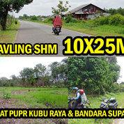 Tanah Kavling Pontianak Uk10x25M, Cash Tempo 1 Tahun