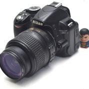 Kamera DSLR Nikon D3100 Lensa Kit 18-55mm Fullset