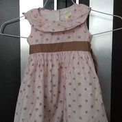 Dress Peach Tanpa Lengan Preloved