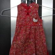 Dress Hello Kitty Merah Preloved