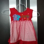 Dress Merah Renda Preloved