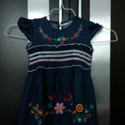 Dress Biru Bunga Preloved (24479795) di Kota Medan