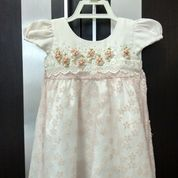 Dress Peach Renda Preloved