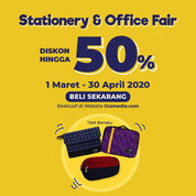 Gramedia Diskon Up to 50% Stationery & Office Fair