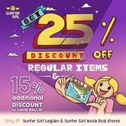 Surfer Girl 25% Off Regular Items +15% Additional Discount (24558863) di Kota Denpasar
