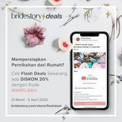 The BrideStory Promo Flash Deals Diskon 20%
