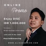 Alisha Bride Online Promo Discount Rp 1.000.000