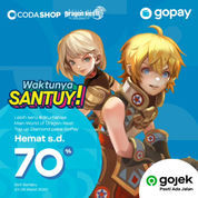Codashop Promo Hopay Hemat s/d 70& Top Up Dragon Nest