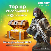 Codashop Promo Top Up CP COD MOBILE Bonus 317 CP