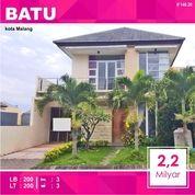 Rumah 2 Lantai Luas 200 Samping Mall Batos Kota Batu Malang _ 148.20 (24802231) di Kota Malang