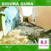 Tanah Kavling Luas 239 Di Sigura Gura Kota Malang _ 149.20 (24803607) di Kota Malang