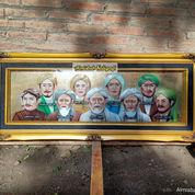 Lukisan Walisongo Logam Kuningan Asli Size.140x60cm. Antik Islami