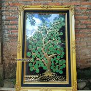 Kaligrafi Asmaul Husna Kuningan Asli Model Motif Pohon Artistik Islami