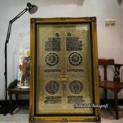 Kaligrafi Pintu Ka'bah Kuningan Asli Size.150x100cm.Artistik Mewah