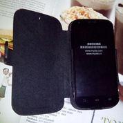 Leather Flip Case Bolt ZTE BLADE A5 V9820 KULIT SAPI ASLI