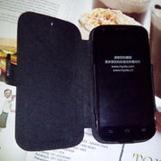 Leather Flip Case Bolt ZTE BLADE A5 V9820 KULIT SAPI ASLI