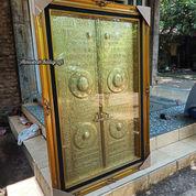 Kaligrafi Pintu Ka'bah Jeglok Kuningan Asli 150x100cm. Eksclusive