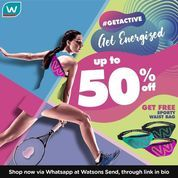 Watson Get Active Up To 50%