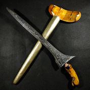 Keris Pamor Bendo Segodo Corok Panjang Sepuh Kuno