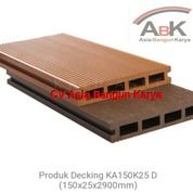 Decking WPC Lantai Outdoor KA 150 K25D Kayu Asri + Jasa Pasang (Harga Sendiri)