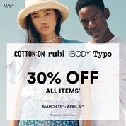 Cotton On RUBI iBody Typo Promo Diskon 30% ALL ITEMS*