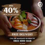 En Dining Disc. 40% Free Delivery