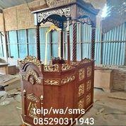 Mimbar Masjid Jati Kubah Ukiran Mewah