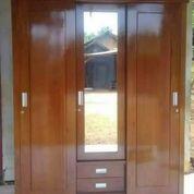 Lemari Pakaian Jati Minimalis 3 Pintu Sleding Code G99 (25361759) di Kab. Jepara