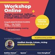WORKSHOP BELAJAR MEMBUAT APLIKASI MOBILE DENGAN ANDROID STUDIO DAN GOOGLE FIREBASE CLOUD