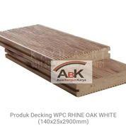 Decking WPC Lantai Outdoor RHINE OAK WHITE Kayu Asri
