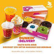 Dunkin' Donuts Discount 20% Free Ongkir