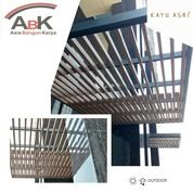 Dinding Partisi WPC KA40S25 Kayu Asri +Jasa Pasang(Harga Sendiri) (25488567) di Kota Surabaya