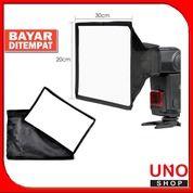 Flash Light Diffuser Mini Soft Box 20x30cm For Camera Speedlit Softbox (25492407) di Kota Malang