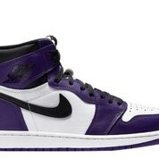 Jordan 1 Retro High Court Purple White (GS) - US size 6.5Y