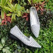 Silver Flat Shoes Wanita Import (25503963) di Kota Bandung